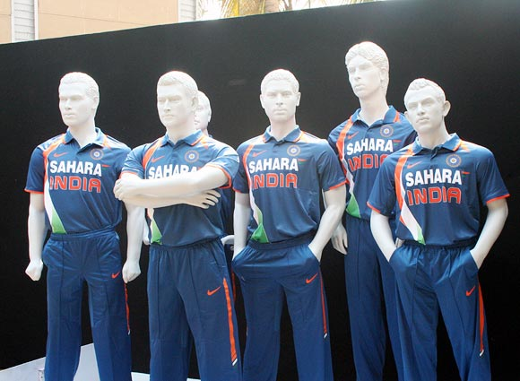 The Team India jerseys on display