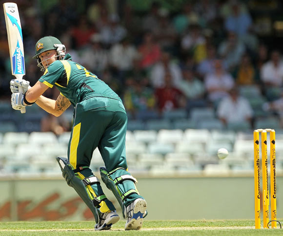 Michael Clarke leg glances during the game