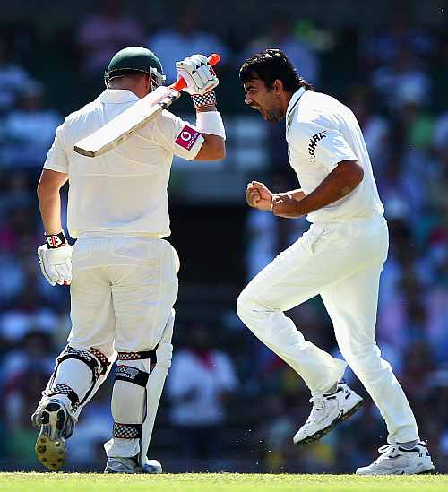 Zaheer Khan and David Warner