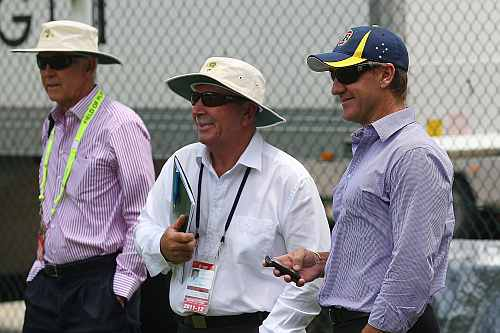 Australian Chairman of Selectors John Inverarity and Selectors Rod Marsh Andy Bichel