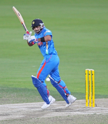 Virat Kohli during the course of his match-winning knock