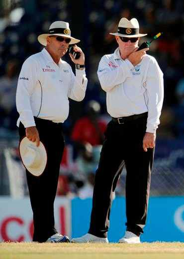 'Players must respect the umpires' decision'