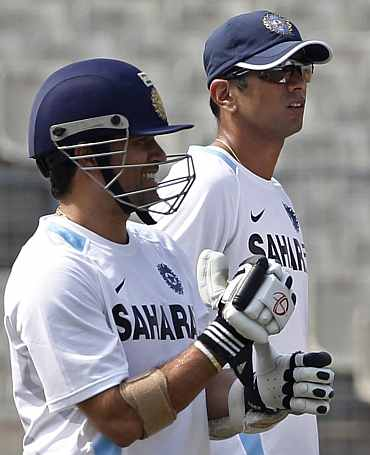 2nd Test: Dravid works on technique