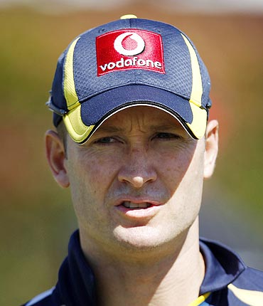 Australia captain Michael Clarke at a practice session in Sydney on Monday