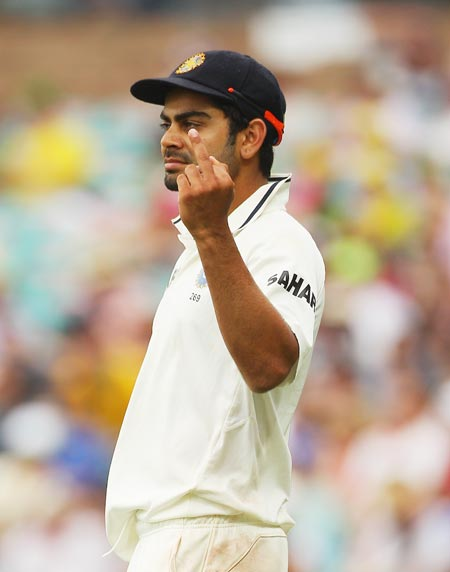 Virat Kohli was fined for doing the same at the SCG