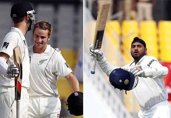 Kane Williamson and Harbhajan Singh
