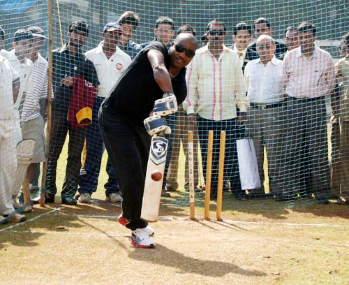 Brian Lara at the Khar Gymkhana in Mumbai
