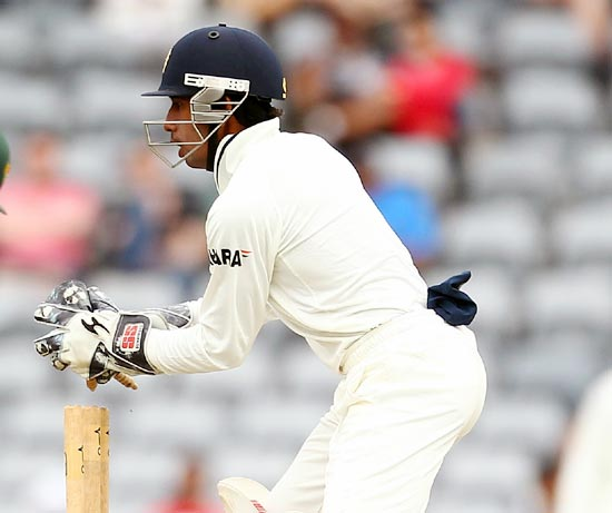 Saha cracked a century in his debut first-class match