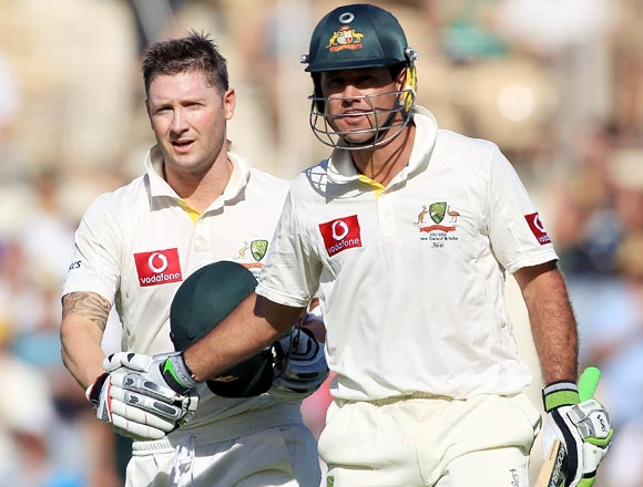 Ricky Ponting (right) and Michael Clarke