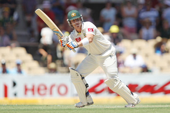 Brad Haddin bats during day two