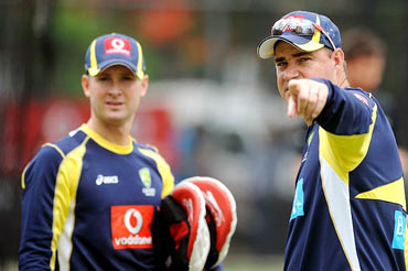 Clarke with coach Mickey Arthur