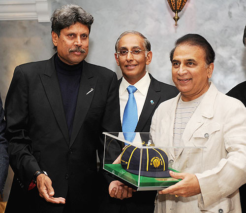 Kapil Dev (left) with Sunil Gavaskar