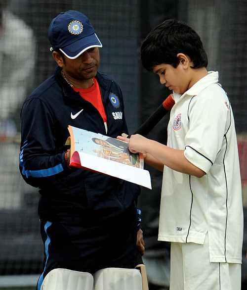 Arjun and Sachin Tendulkar