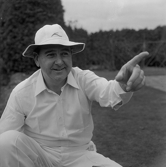 England and Kent cricketer Colin Cowdrey (1932 - 2000) comes out of retirement to play Test Cricket for the injury hit MCC touring side in Australia