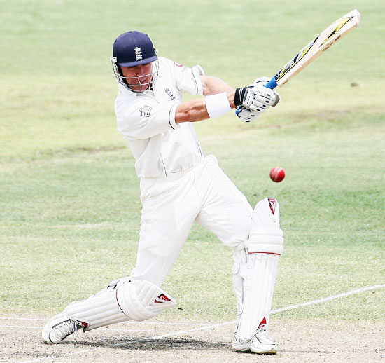 Alec Stewart of England cover drives