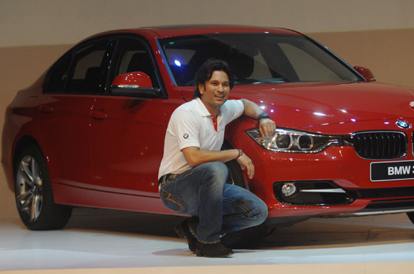 First look: Sachin Tendulkar launches BMW 328i