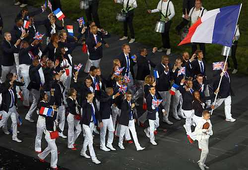 France Olympic team during the opening ceremony