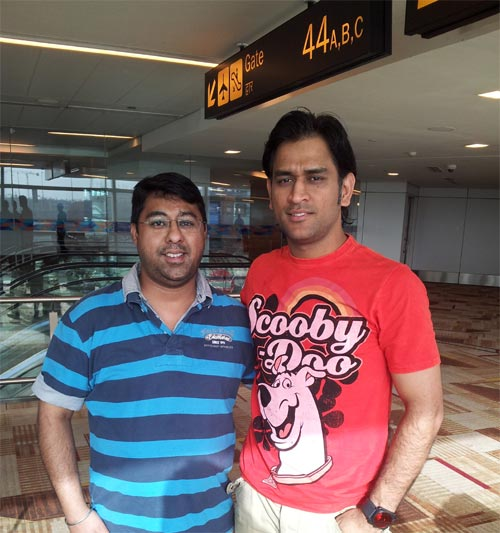 Spotted: India captain MS Dhoni in Chandigarh