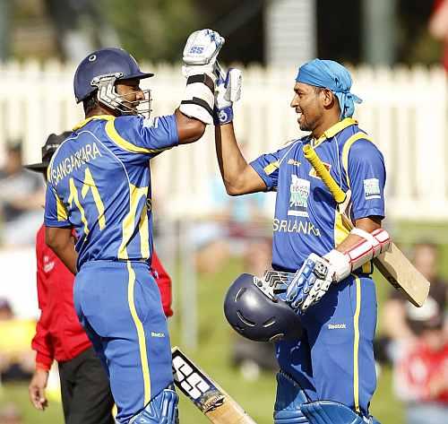 Tillakaratne Dilshan and Kumar Sangakkara