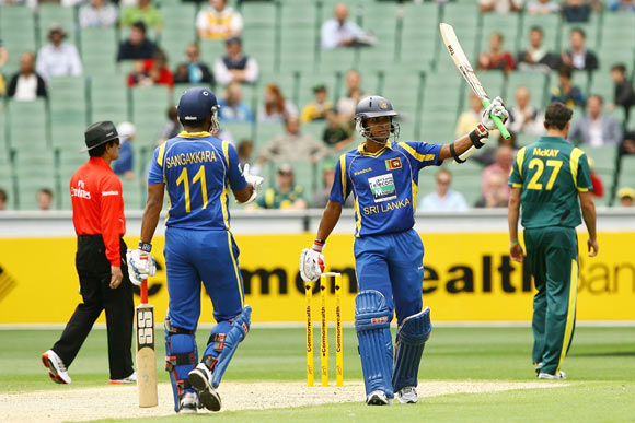 Dinesh Chandimal of Sri Lanka celebrates his half century