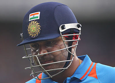 Sehwag performed below expectations