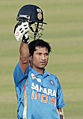 Sachin Tendulkar after scoring his 100th hundred on Friday