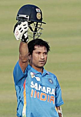 Sachin Tendulkar after scoring his 100th hundred on Friday