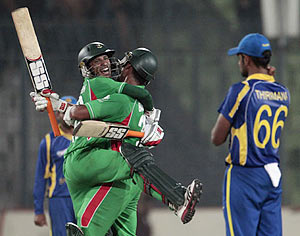 Bangladesh players celebrate