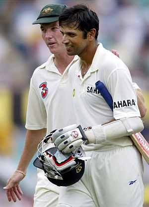 Rahul Dravid and Brett Lee