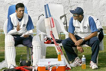 Rahul Dravid with Anil Kumble