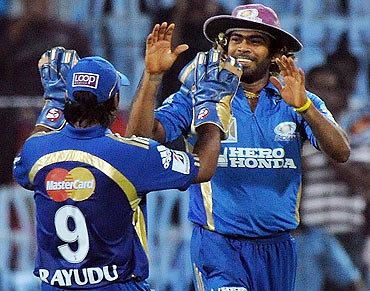Lasith Malinga with Anbati Rayudu