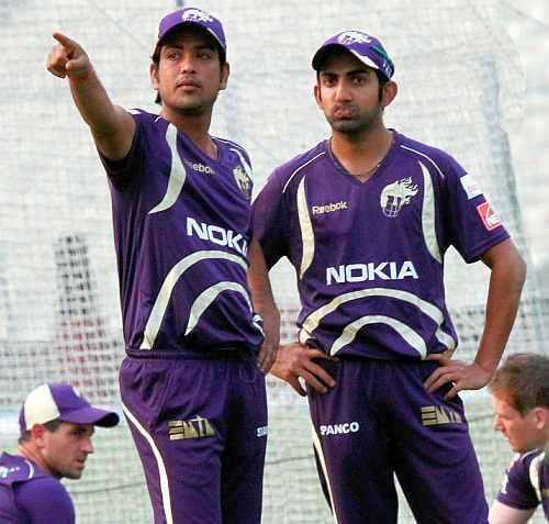 Gautam Gambhir with teammate Lakshmi Ratan Shukla
