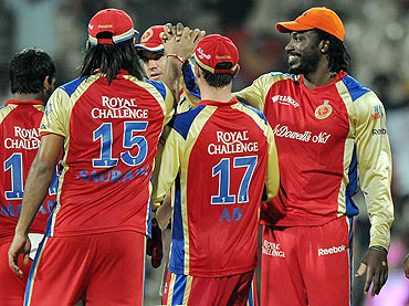 RCB players in action