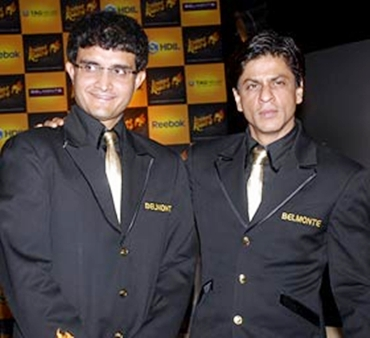 Shah Rukh Khan with Sourav Ganguly