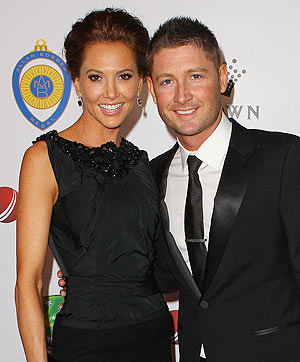 Michael Clarke with wife Kyly Boldy
