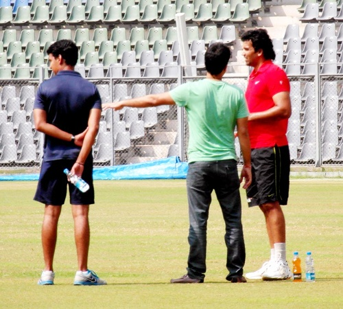 PHOTOS: Zaheer undergoes fitness test at Wankhede