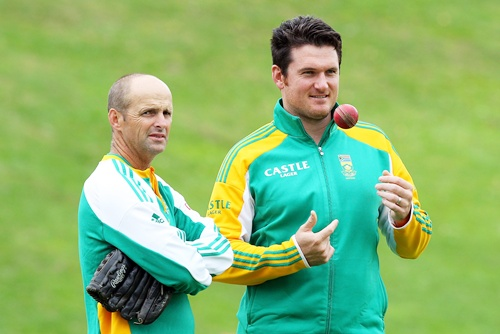 Gary Kirsten with Graeme Smith