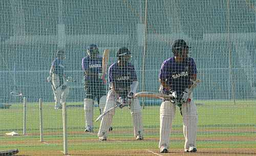 Indian team during a practice session