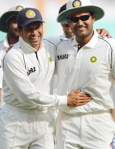 Sehwag is a great player; it's a joy to play with him: Tendulkar