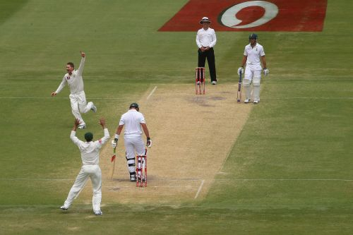 Australian captain Michael Clarke celebrates dismissing Jacques Kallis of South Africa
