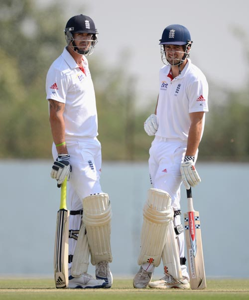 Kevin Pietersen and Alastair Cook