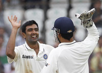 Ashwin captured the wicket of Cook