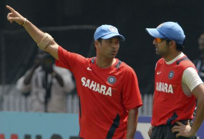 Gautam Gambhir and Sachin Tendulkar