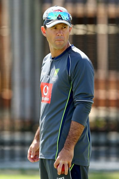Ricky Ponting looks on during an Australian training session at WACA