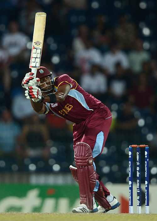 Kieron Pollard of the West Indies bats during the ICC World Twenty20 2012 Semi Final between Australia and the West Indies