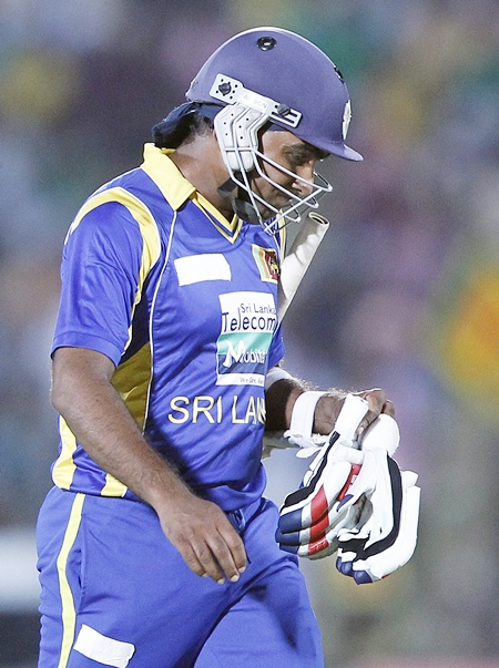 Sri Lanka's captain Mahela Jayawardene