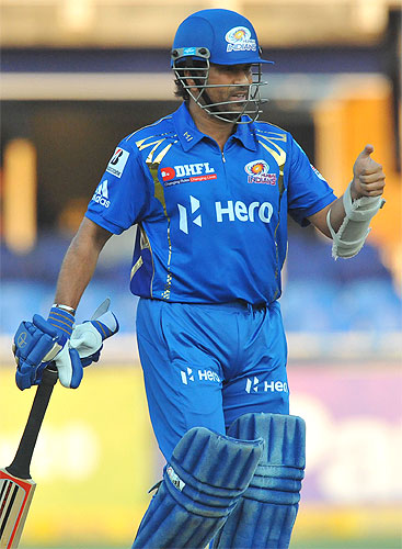 Sachin Tendulkar during the CLT20 match between Highveld Lions and Mumbai Indians