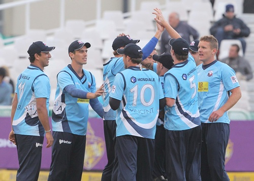 Auckland Aces teammates celebrate