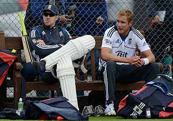 Kevin Pietersen and Stuart Broad