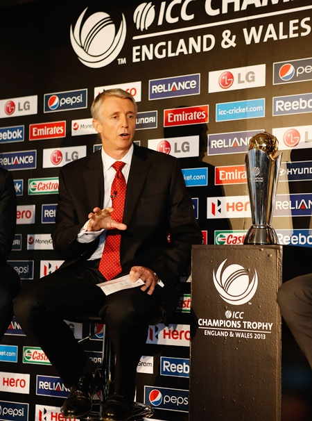 Steve Elworthy the Tournament Director of the ICC Champions Trophy 2013